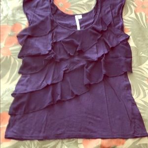 Lauren Conrad. Purple short sleeve blouse. S.